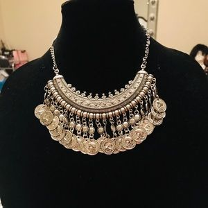 Traci Lynn Silver Coin Necklace